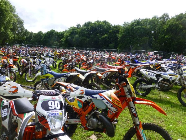 The dirt bikes at the Welsh Enduro