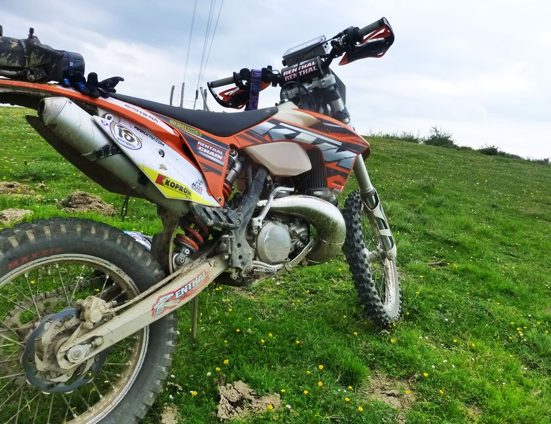 The EXC250 in its natural habitat