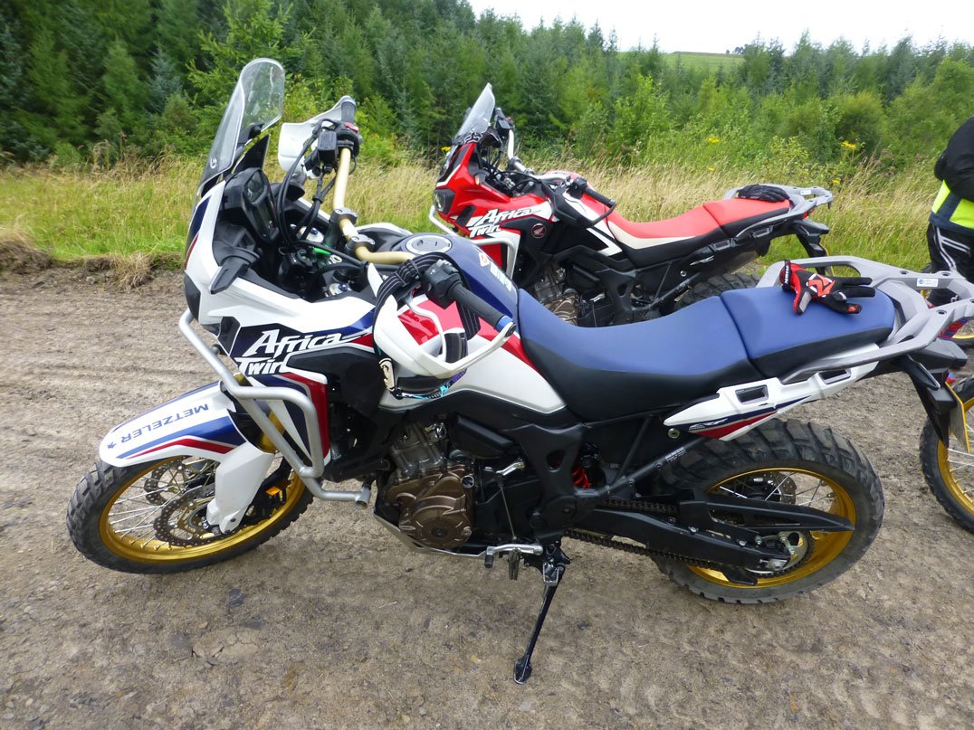 Two colorways of the Africa Twin