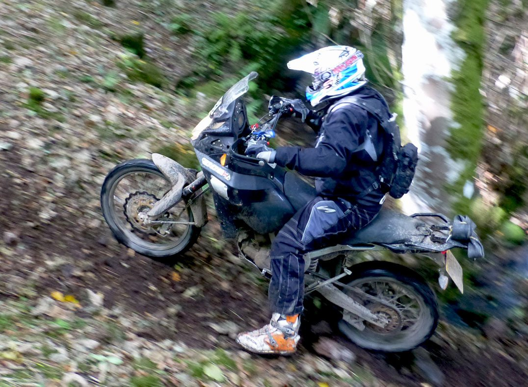 Trial riding with the CCM GP450