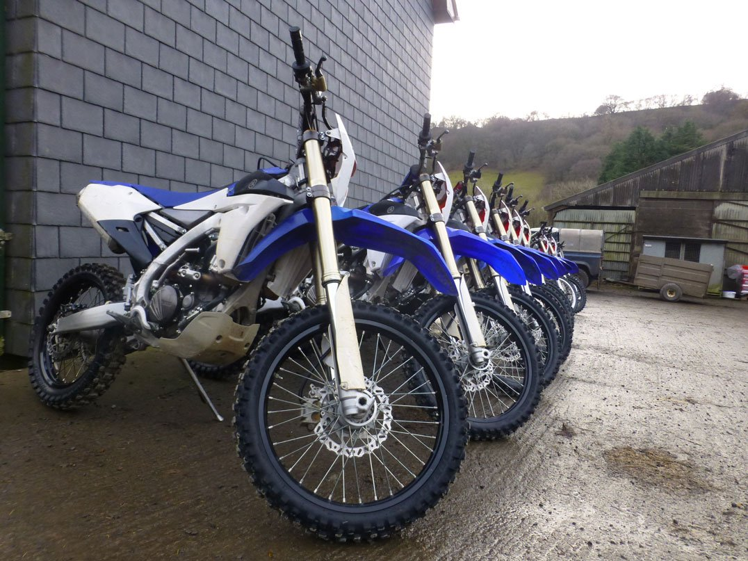 WRF250s lined up