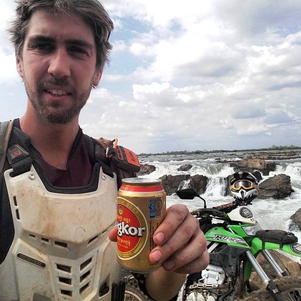 Beer by the Mekong River