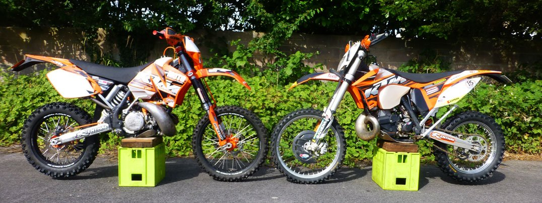 KTM EXC250 Plastics do the job
