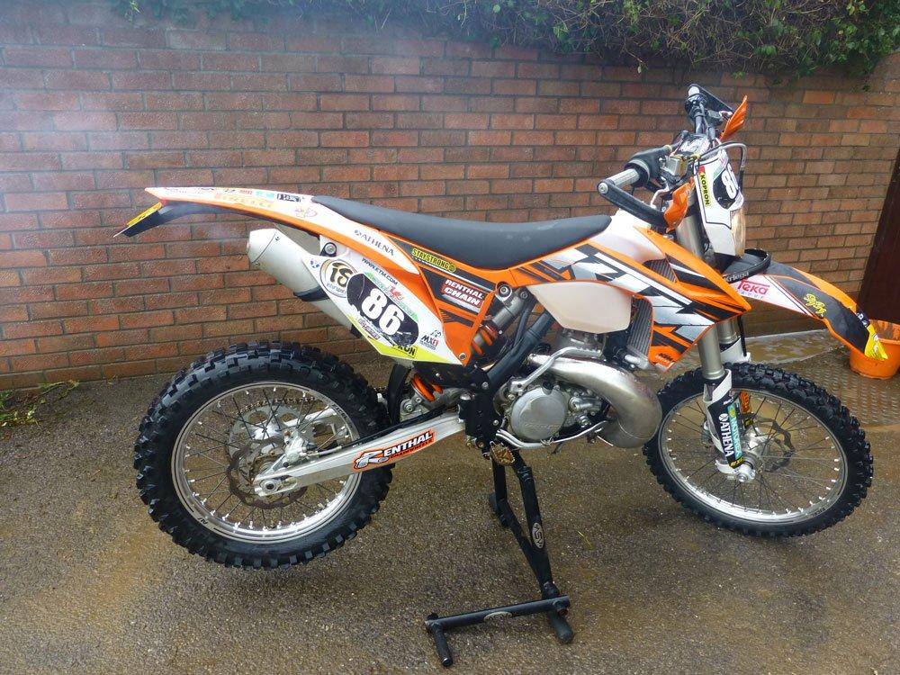 Clean dirt bike