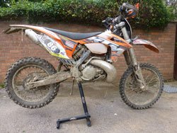 A dirty KTM EXC250