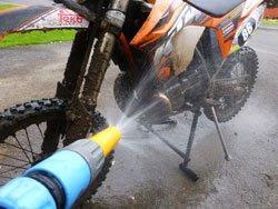 Wetting you dirt bike