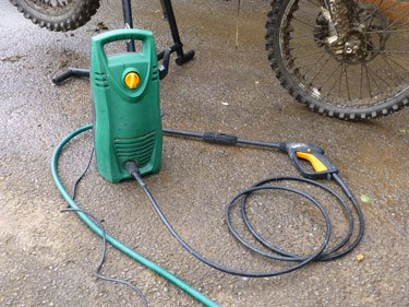 Dirt bike cleaner