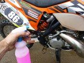 Spray liberally