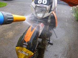 Wet mud is easier to clean off