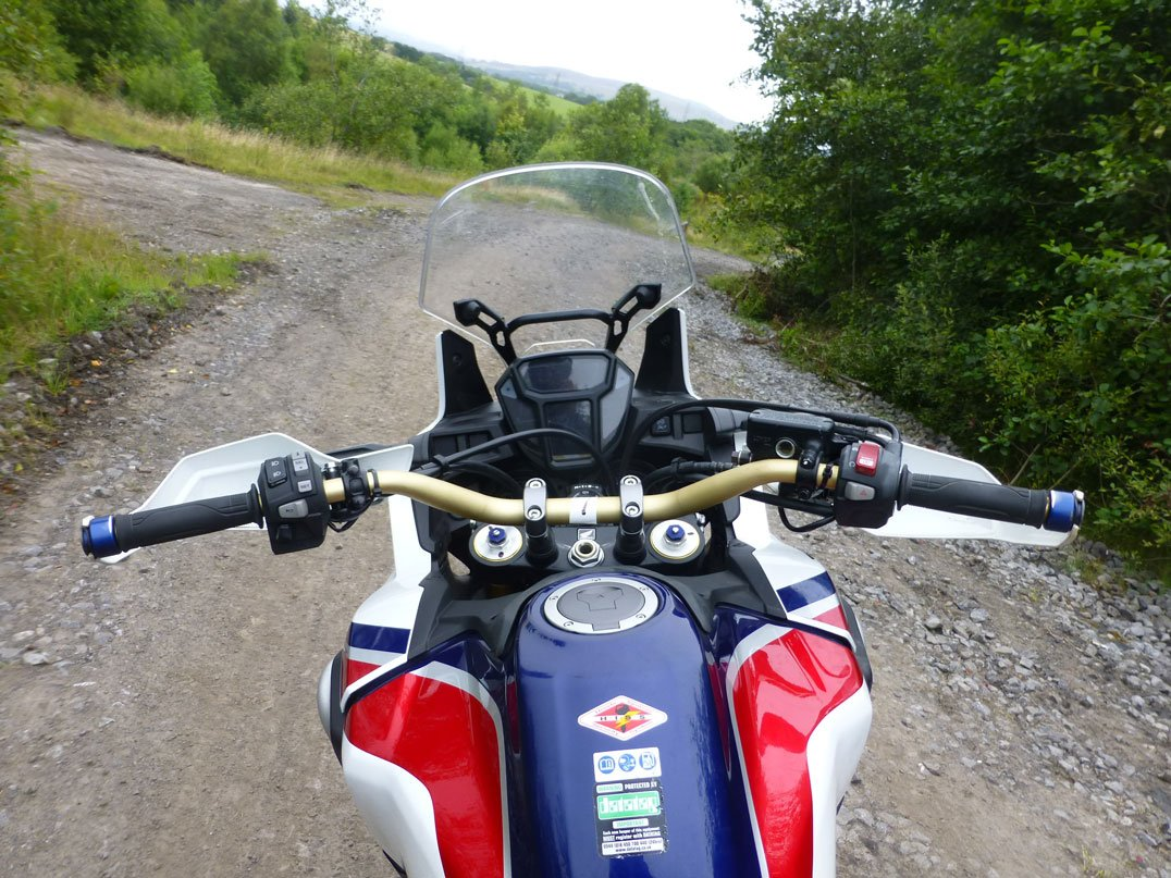 Simple open cockpit defines the Honda Africa Twin