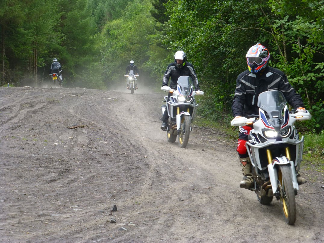 Slalom on the Africa Twin