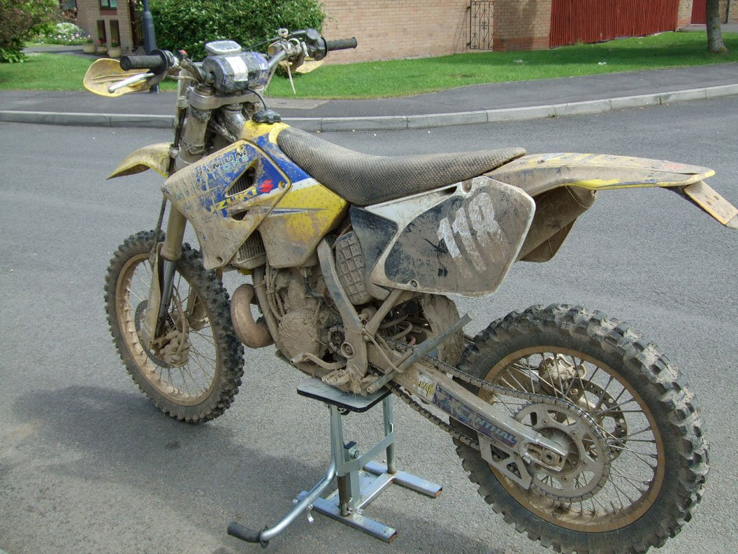 A very dirty dirtbike