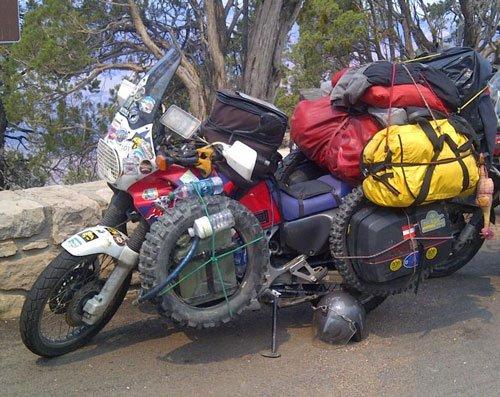 Trail bike overload