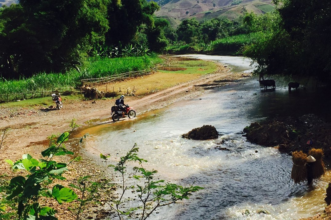 River crossing in Vietnam