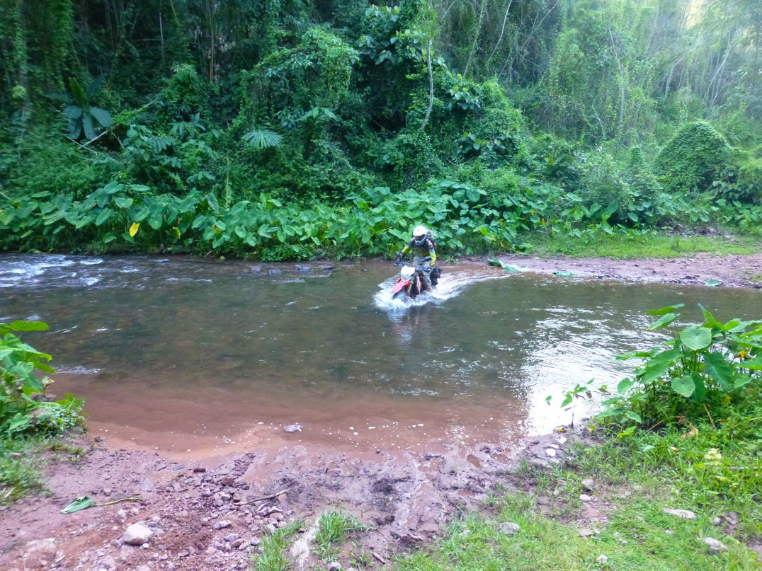 River crossing in Laos