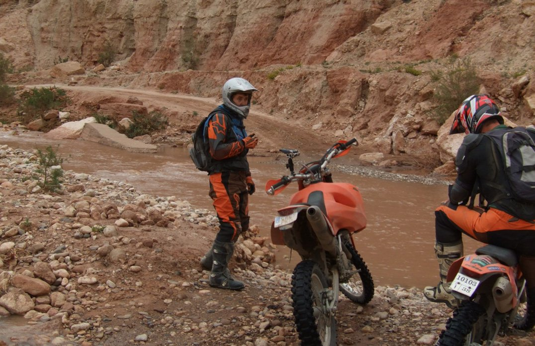 Water crossing in Morocco