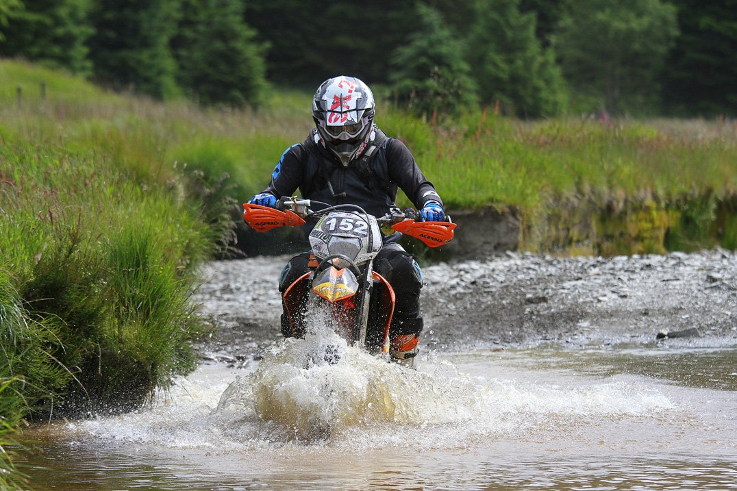 River crossing in the Welsh 2 Day Enduro