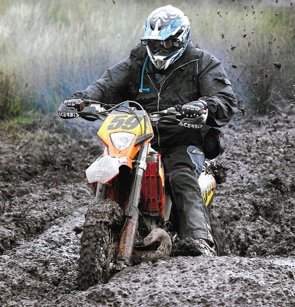 KTM in deep mud