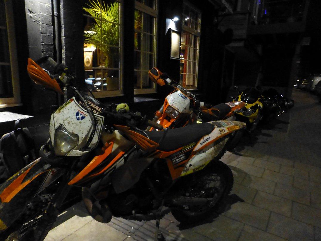 Riding dirt bikes in the dark