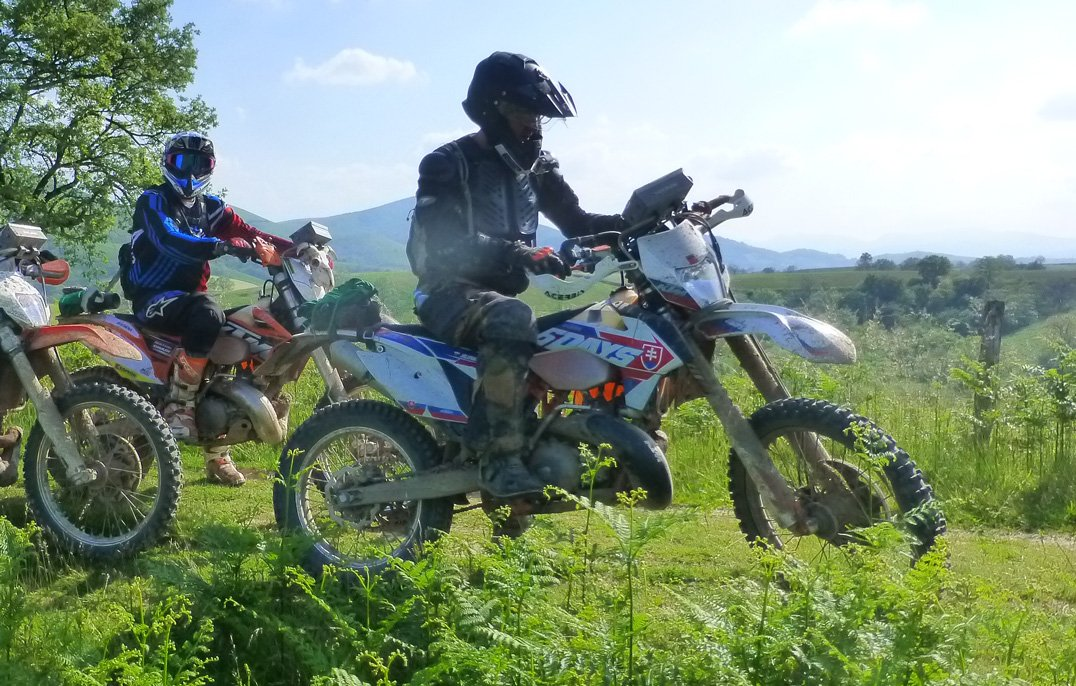 Trail riding in France